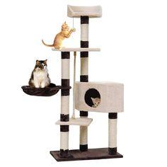 새로운 도착 고양이 등반 가구 애완 동물 집 긁는 포스트 고양이 재생 볼 고양이 훈련 프레임 제품 애완 동물 침대