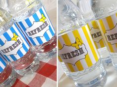 Today's Tutorial: Water Bottle Labels...Here are my tips for doing it at home and keeping it sane...First off, the paper...