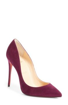 CHRISTIAN LOUBOUTIN WOMEN'S CHRISTIAN LOUBOUTIN PIGALLE FOLLIES POINTY TOE PUMP. #christianlouboutin #shoes #