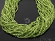 Natural NO TREATMENT Genuine Green Peridot Micro by Beadspoint, $39.95