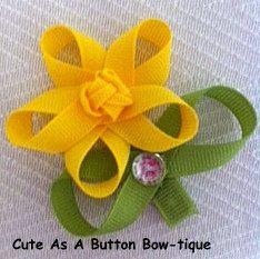 Ribbon Sculpture Spring Flower.