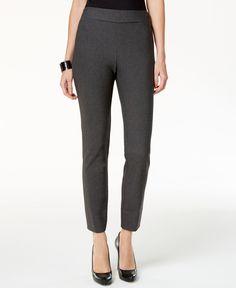 Eci Pull-On Straight-Leg Pants
