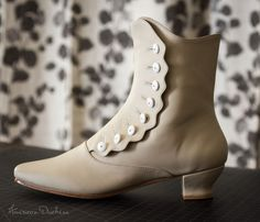 """Renoir"" Button Boots - late 1850s - 1880s - by American Duchess. Perfect for Civil War and bustle era.  Available to Pre-Order April 7th, with delivery estimated for July 2014"
