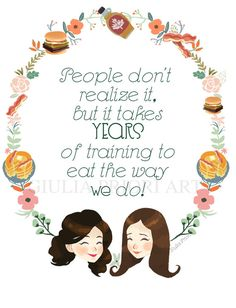 A new serie of Tv shows inspired prints has arrived!  As Gilmore Girls fan I created this new style of print, I love GG quotes!  The quote can be