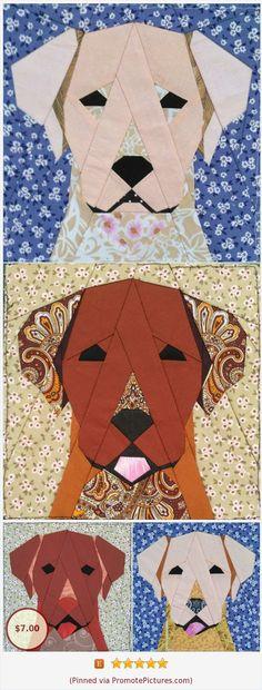 Labrador quilt block – Do it yourself Paper Pieced Quilt Patterns, Barn Quilt Patterns, Applique Quilts, Paper Piecing, Dog Quilts, Animal Quilts, Barn Quilts, Scrappy Quilts, Dog Pattern
