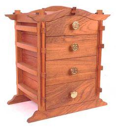 Ah! E se falando em madeira...: Cofre estilo oriental                                                                                                                                                                                 Mais