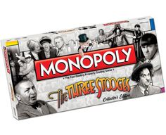 The Three Stooges Monopoly Board Game Monopoly Board, Monopoly Game, The Three Stooges, Bored Games, Babies R Us, Toys R Us, Derby Hats, Country Of Origin, Our Baby