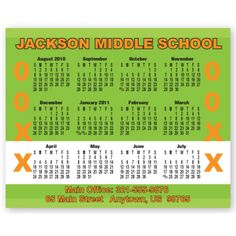 4x5 Custom Academic Calendar Magnets for Students Parents