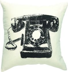 The Telephone Cushion from Urban Barn is a unique home décor item. Urban Barn carries a variety of 25 Percent Off Bedding, Throws and Pillows and other  Sale furnishings.