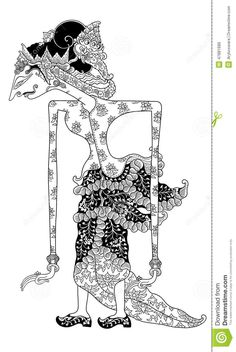 Detail Wayang Kulit (Indonesian shadow puppet) from