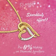 Sparkling Offer ! Grab the offer before you miss it !! 0% making charge* on #DiamondJewellery 45 Days #ReturnPolicy.