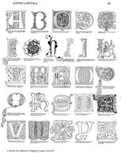Margaret Shepherd: Calligraphy Blog: 125 Assorted Gothic Captals