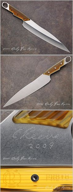Chris Reeve, Sikayo Kitchen Knife with 9 inch Blade - THIS IS A PROTOTYPE MADE AND SIGNED BY CHRIS REEVE, Only Fine Knives