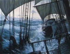 """""""Water poured over the rail as the ship rolled, knocking men off their feet and pinning them under the torrent."""""""