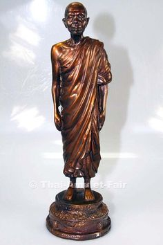 Very rare original Luang Pho Koon Bucha statue Ruun Thep Prathan from the venerable Luang Pho Koon Parisuttho, abbot of Wat Banrai, Tambon Kut Piman, Amphoe Dan Khun Thot, Changwat Nakhon Ratchasima (Korat), Isan, north-east Thailand from the 16.03.2535 (1992).