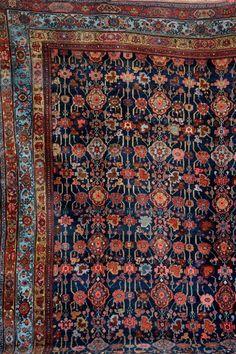 Bidjar antik, Persien, Ende 19.Jhd., Wolle auf Wolle, ca. 377 x 255 cm, EHZ: 3, (Altersspuren, res —