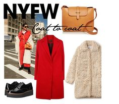"""Coat & coat"" by veureka on Polyvore featuring Céline Lefébure, Janis, Shellys, contestentry and nyfwstreetstyle"