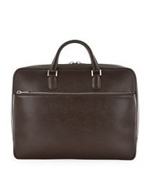 View the Zipped Leather Briefcase