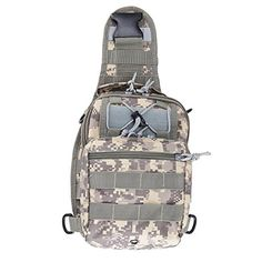Pinty Outdoor Tactical Sling Shoulder Canvas Backpack Molle Camo Bag Military  Sport Bag Pack Daypack for Camping Hiking Trekking Rover Slingchest bag ** You can find more details by visiting the image link.(This is an Amazon affiliate link)