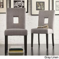 $165.99 (less 10% coupon is $149.39) & FREE shipping set of 2 INSPIRE Q Mendoza Keyhole Back Dining Chairs 13015302 - Overstock.com
