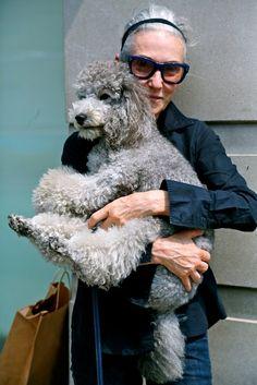 Linda Rodin and pooch