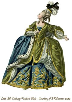 1779 Fashion Plate PNG in various color combinations by EKDuncan - http://www.ekduncan.com/2012/05/rococo-toy-theater-18th-century.html#
