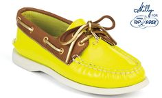 yellow patent leather sperrys