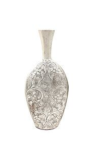 EMBOSSED FLORAL BELLY VASE