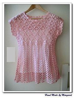 Pretty in pink! Love this crocheted top (it is shown in cream on the website).