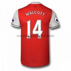 Billige Fodboldtrøjer Arsenal 2016-17 Walcott 14 Kortærmet Hjemmebanetrøje