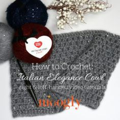 The Italian Elegance Cowl Tutorial will take you through every stitch you need to know for this fun, fast project - in right & left-handed video tutorials! Crochet Letters Pattern, Letter Patterns, Crochet Patterns, Crochet Tutorials, Crochet Ideas, Crochet Scarves, Crochet Shawl, Knit Crochet, Crochet Hood