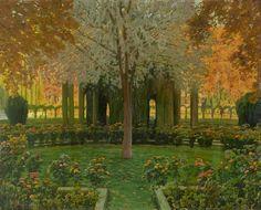 Glorieta De Cipreses-jardines Aranjuez by Santiago Rusiñol I Prats