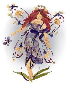 Original OOAK Fantasy Flower Fairy Art  by fairyblossomdesigns, $20.00