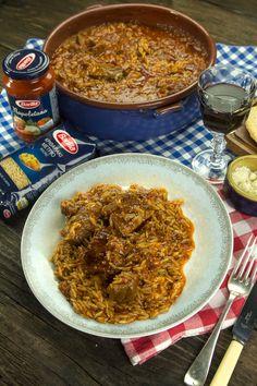 γιουβέτσι Μοσχάρι Κοκκινιστό Μυστικά No Cook Desserts, Dessert Recipes, Chili, Recipies, Curry, Soup, Cooking Recipes, Meat, Ethnic Recipes