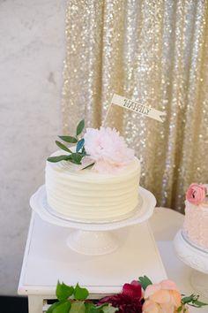 sweet peony cake | Matt and Julie #wedding