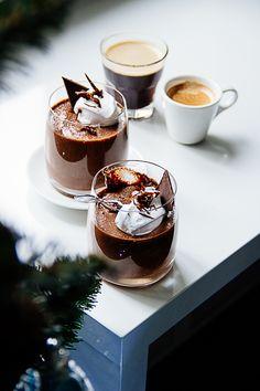 Chocolate Vanilla Mousse #recipe