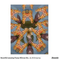 Beautiful amazing Funny African Giraffe pattern design #amazing stuff and #gift #products sold on zazzle