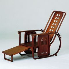 JOSEF HOFFMANN, Nr.670 (Sitzmaschine), 1905. Manufactured by Jacob & Josef Kohn, Vienna. Material bent beechwood, turned wood, plywood a...