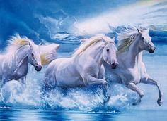 1000 Parça Görkemli Beyaz Atlar (Clementoni 39200)