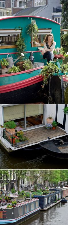 Canal houseboats in Amsterdam: lived on one in 1976/7