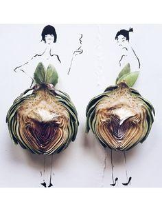 Dibujando moda con comida