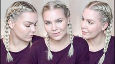 HOW TO FRENCH BRAID YOUR OWN HAIR FOR BEGINNERS – TALK THROUGH & REAL TI...
