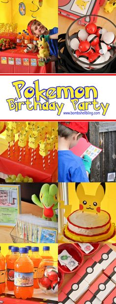 This Pokemon birthday party is the CUTEST! Fun ideas for Pokemon themed games, decorations, food, and party favors! A little Pokemon lover's dream party! Birthday Party Games, 6th Birthday Parties, 8th Birthday, Birthday Ideas, Pokemon Themed Party, Pokemon Birthday, Pokemon Games Party, Pokemon Party Decorations, Pokemon Party Bags