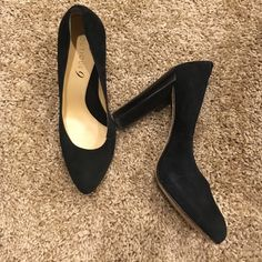 Thick heel black pumps by boutique 9 Beautiful black thick heeled pumps size 6. Genuine leather with a stacked heel. There is a small cut in the shoe (see photo) that I just noticed. Priced accordingly, still gorgeous and super versatile with comfort and style! Boutique 9 Shoes Platforms