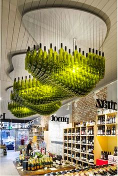 What great use of bottles! from http://timefordeco.com www.eclectic-entertaining.com