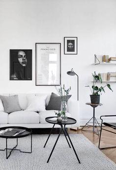 Monochromatic Living Room Interior, Home Living Room, Living Room Designs, Living Room Decor, Apartment Living, Apartment Interior, Living Area, Cozy Apartment, Bedroom Apartment