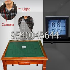 The camera is installed in the collar of a shirt and the camera lights are installed in the other side of collar. The user's partner can see the markings on the back of playing cards put on the table sitting in front of TV or computer attached with the device in the next room. The user will get the information of the cards through wireless earpiece. Visit us for more information: http://www.spycheatingplayingcards.com/spy-playing-cards-in-chandigarh.html