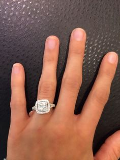 The ring I'm getting (haha maybe). Got to try it on finally because they don't have this one in many Kay Jewelers stores. Neil Lane Engagement Ring 2 ct tw Diamonds 14K White Gold