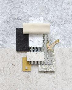 Material Mood Of The Week ~ Beige Velvet & Metal Mesh #summervibes #summerhouse #metal #mesh #diespekerandco #stones #terrazzo #white #concrete #harald #kvadrattextiles #colors #valchromat #coveringsetc #mood #materialmood #moodboard #inspiration #interiordesign #studiodavidthulstrup