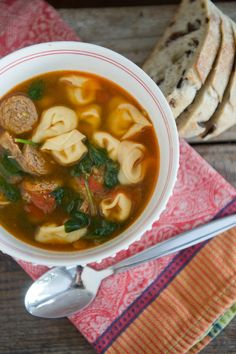 sausage spinach and tortellini soup